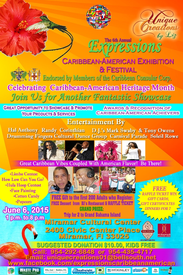 Expressions Caribbean-American Exhibition & Festival-June 6, 2015