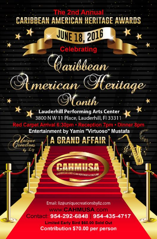 Caribbean American Heritage Awards-June 18, 2016