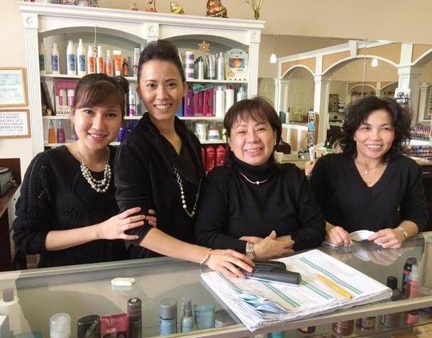Thuy and staff