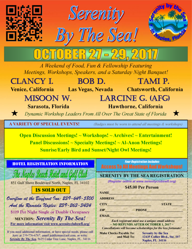 The 9th Annual Serenity By The Sea!