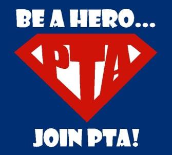 PTA logo that mimics Superman logo