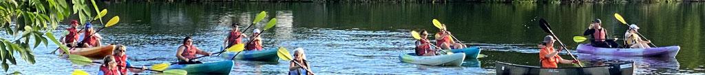 kayakers on University Lake