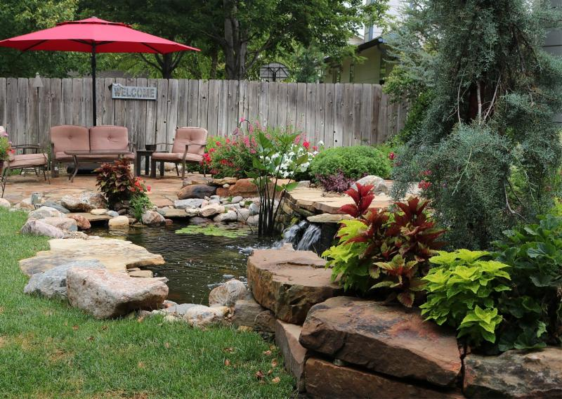 Outdoor Living with Water Features 1919 S. Crestline, Wichita, KS 67209.  Landscaping ... - Garden Tour 2018 Sponsored By Sedgwick County Extension Master