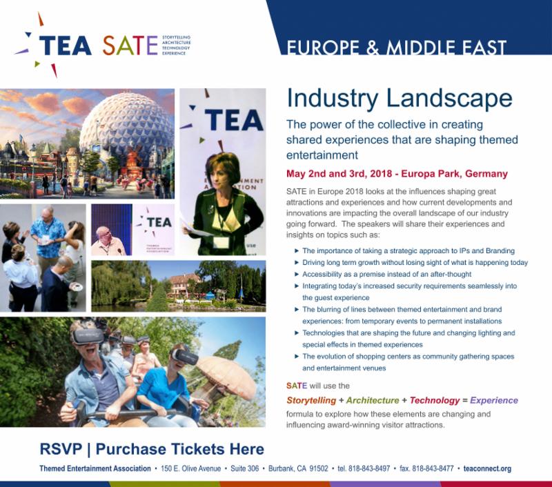 TEA president David Willrich talks about TEA SATE Europe 2018, May 2-3 at Europa-Park