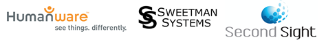 HumanWare_ Sweetman Systems and Second Sight Logos