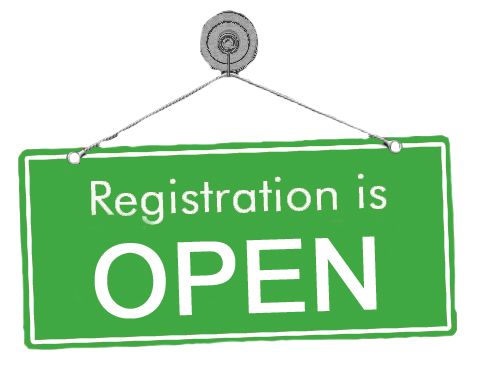 Sign saying Registration is Open