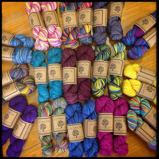 I am so, so happy to be the first brick and mortar shop with @prairiegirldanie's One Twisted Tree yarns. I am crazy in love with this!!!