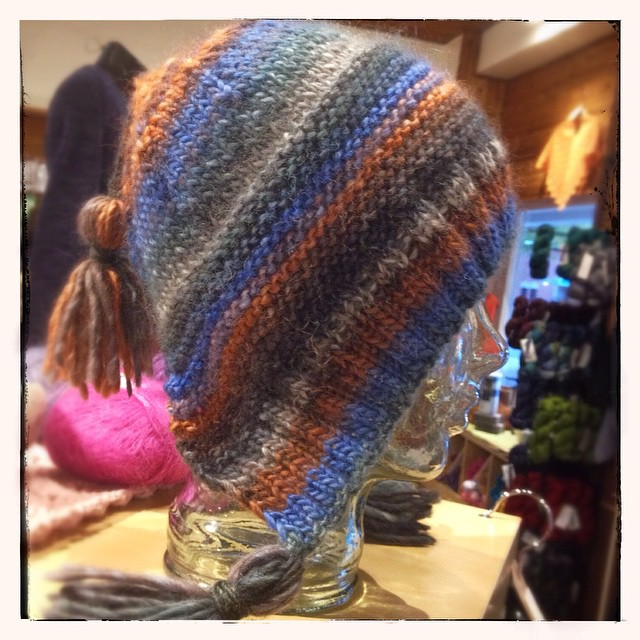 Capucine worked up in a flash in Gina Chunky from @PlymouthYarn -- I squeaked by with one skein! #yarnfolk #knitting #knittingpatterns