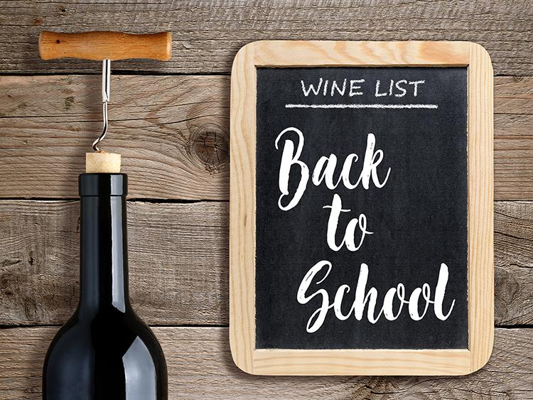 Back to School Wine List