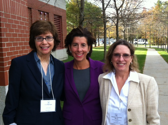 Oce Harrison Governor Gina Raimondo and Christine Rancourt Bruzzi