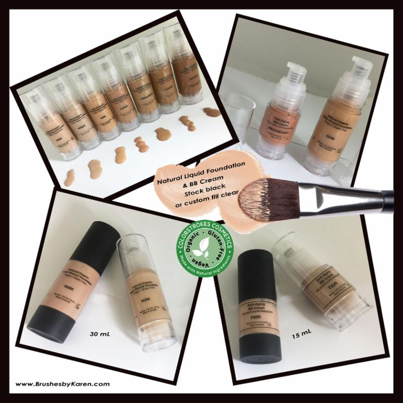 15 & 30 mL airless bottles for Natural Foundations & BB Creams