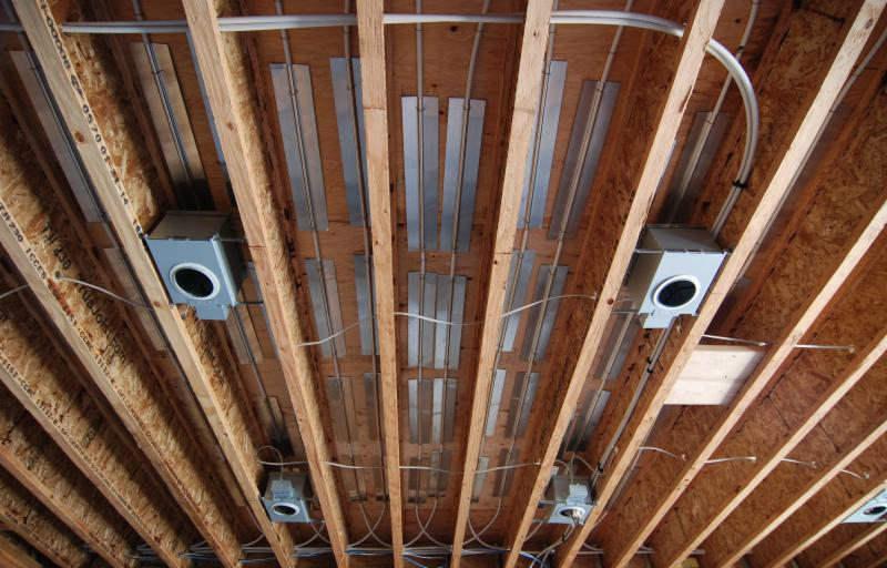 radiant heat option log home
