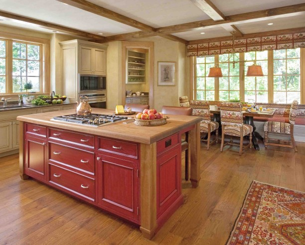 log home kitchen concept