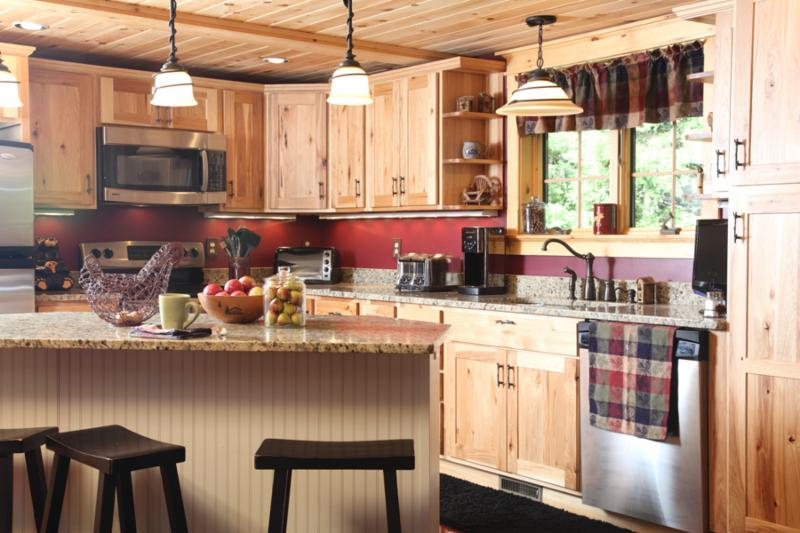 log home kitchen design idea