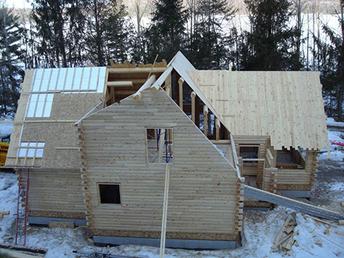 log home building prep