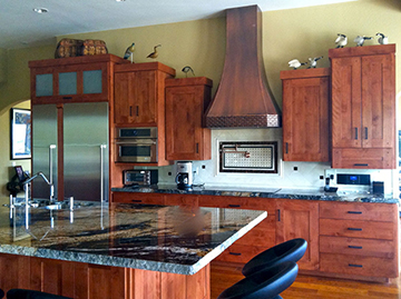 kitchen design ideas copper hood