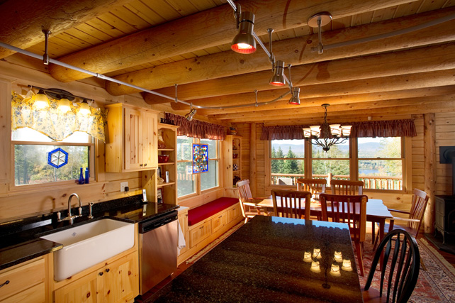In The Spotlight Effective Kitchen Lighting Katahdin Cedar Log