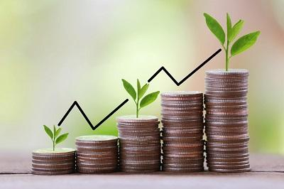 financial growth graphic