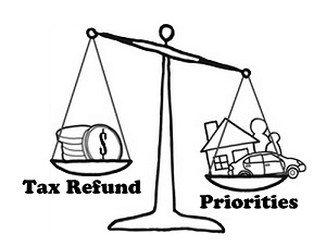 A Balance holding a tax refund and priorities