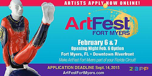 Call for artists artfest fort myers art fair insiders for Craft fair fort myers