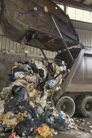 Trash in a Truck