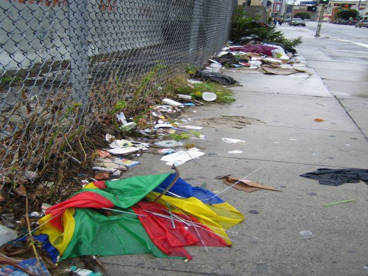 Trash on Street