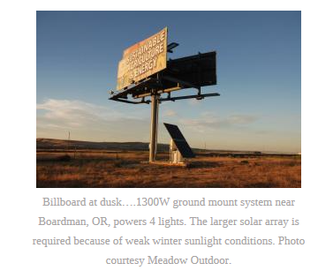 Conlin Does The Math On Solar Billboard Lighting Signvalue