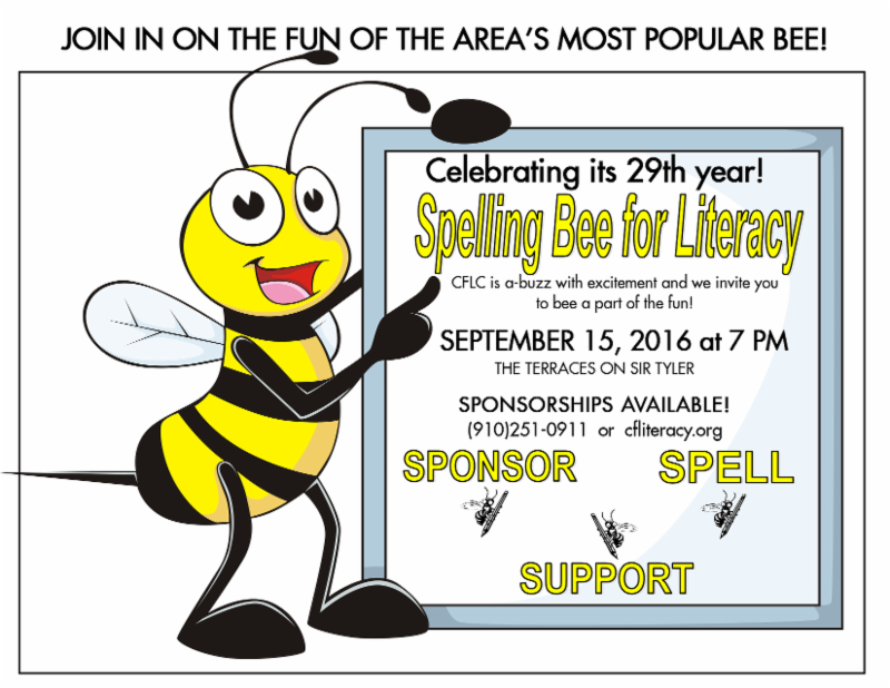 29th annual spelling bee for literacy for Spelling bee invitation template