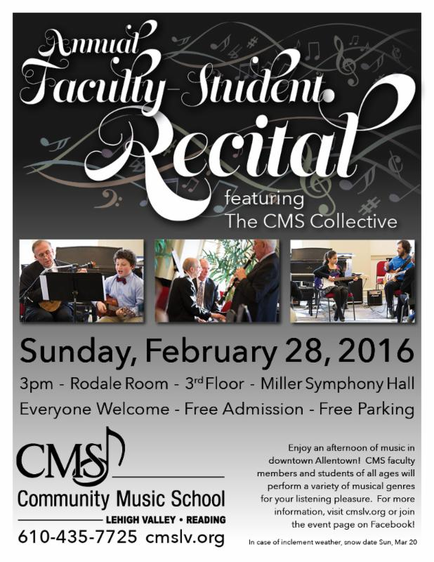 Faculty Student Recital Flyer