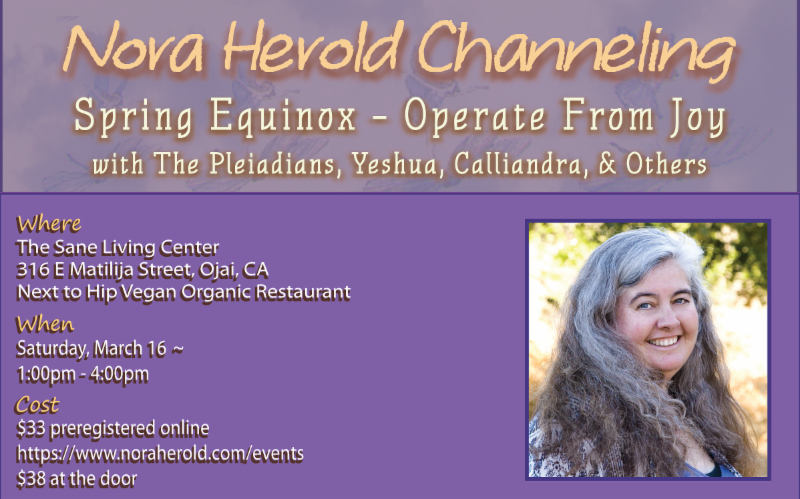 Spring Equinox with The Pleiadians at the Sane Living Center in Ojai