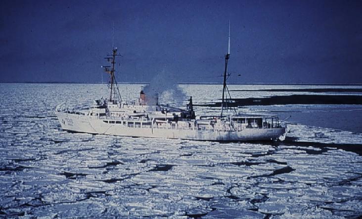 In the Bering Sea Ice Pack NOAA Ship Surveyor (R-101)