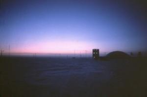 Amundsen-Scott South Pole Station in twilight - a three-month affair