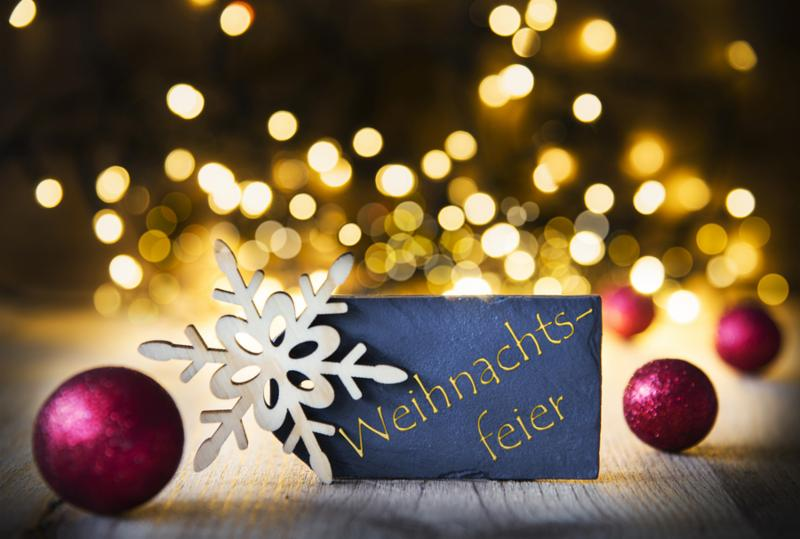 Background_ Lights_ Text Weihnachtsfeier Means Christmas Party