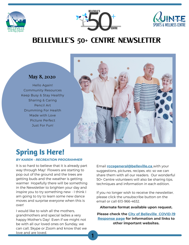 City of Belleville's 50 Plus Newsletter - May 8