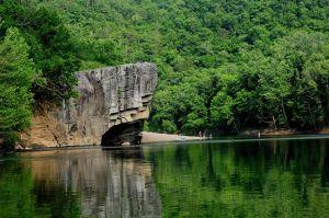 Skull Rock on the Buffalo National River