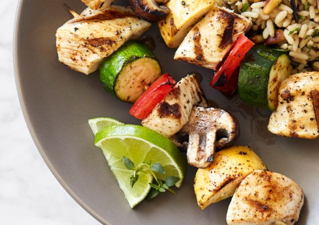 Chile-Lime Rubbed Chicken kabobs