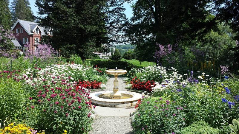 Formal gardens at Marsh-Billings-Rockefeller National Historical Park