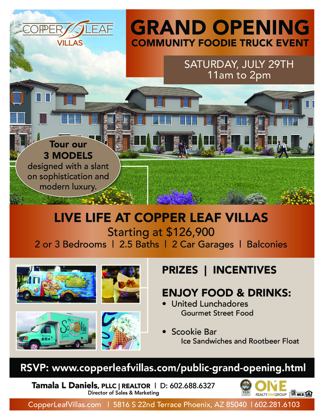 JOIN ME TODAY AT 11AM for GRAND OPENING of Copper Leaf