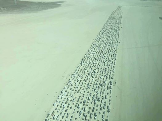 Exodus from Burning Man 2016