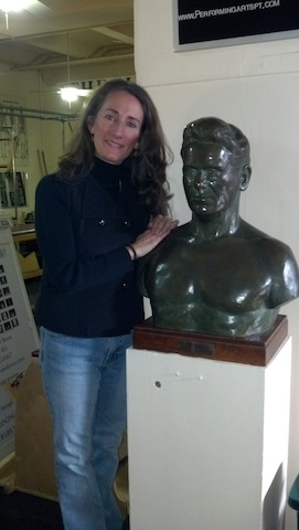 Kerry and bust of Pilates