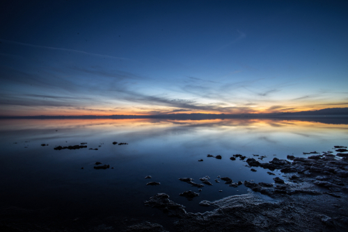 A general view of Salton sea s sunset