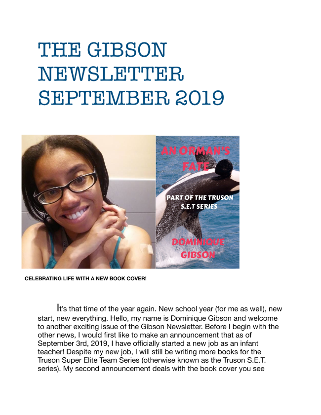 Here is the latest edition of The Gibson Newsletter. Enjoy!