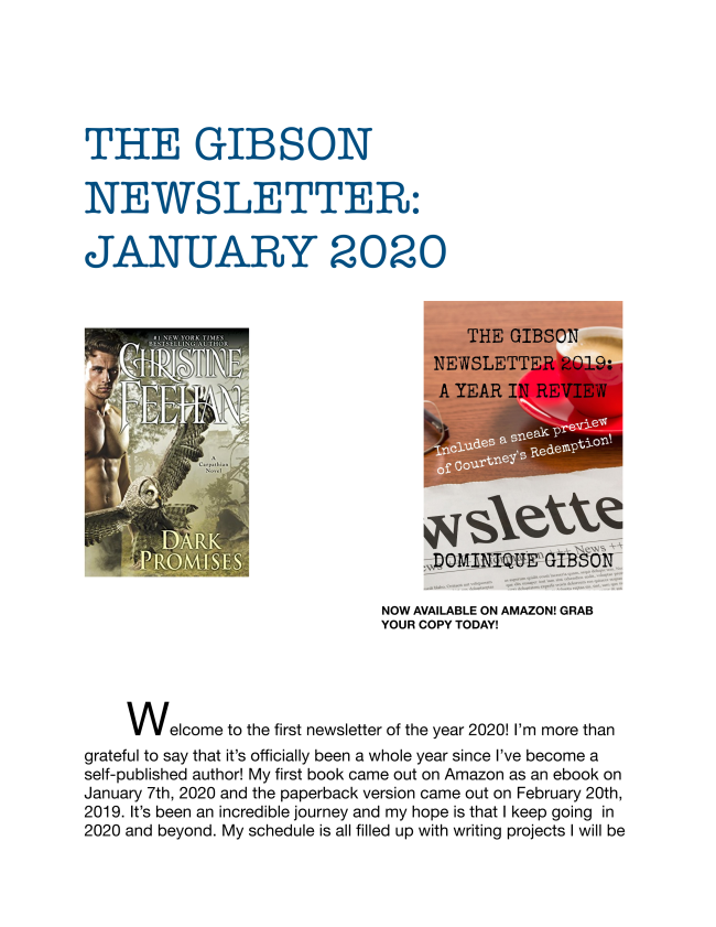 Here is the January 2020 edition of The Gibson Newsletter. Enjoy!