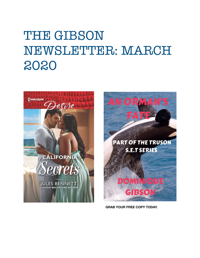 Here is the latest newsletter for March 2020. Enjoy!