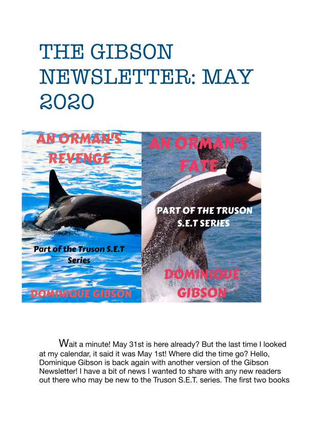 Here is the latest addition of The Gibson Newsletter. Enjoy!