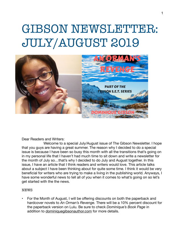 Here is the latest Gibson newsletter for July and August 2019.