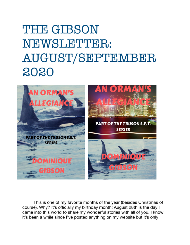 Here is the latest edition to the Gibson Newsletter. Enjoy!