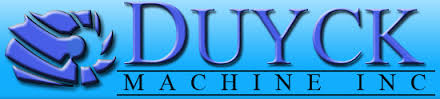 Blue logo for Duyck Machine