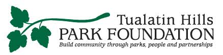 Tulatin Hills Park Foundation logo - green branch with three leaves