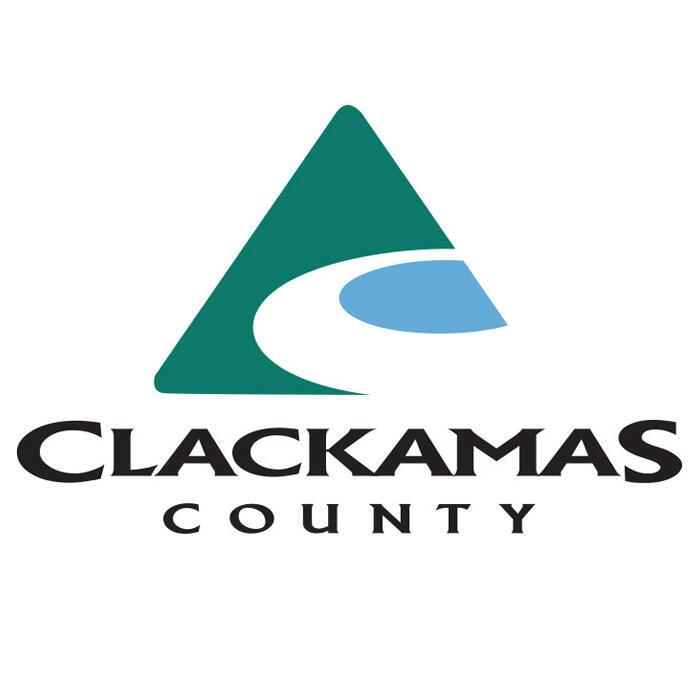 Clackamas County_s green _ blue triangular logo